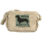 Doxie Warning Messenger Bag