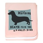 Doxie Warning baby blanket