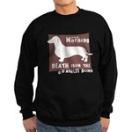 Doxie Warning Sweatshirt (dark)