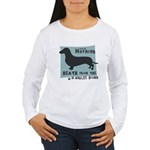 Doxie Warning Women's Long Sleeve T-Shirt