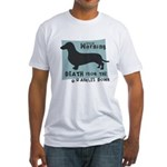 Doxie Warning Fitted T-Shirt