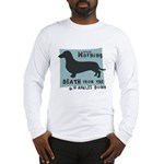 Doxie Warning Long Sleeve T-Shirt