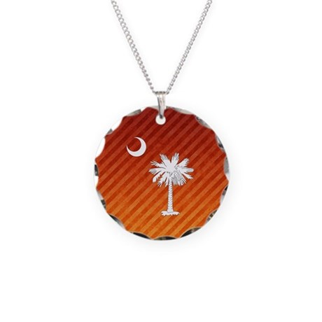 SC Palmetto Moon Necklace Circle Charm