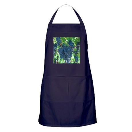 Grapes As Art Apron (dark)