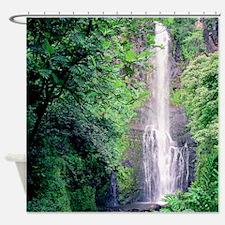 Wailua Falls Maui Tropical Shower Curtain
