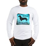 Grunge Doxie Warning Long Sleeve T-Shirt