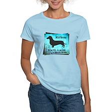 Grunge Doxie Warning T-Shirt