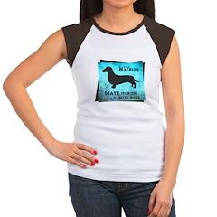 Grunge Doxie Warning Women's Cap Sleeve T-Shirt
