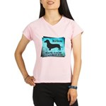 Grunge Doxie Warning Performance Dry T-Shirt