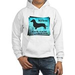 Grunge Doxie Warning Hooded Sweatshirt