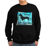 Grunge Doxie Warning Sweatshirt (dark)
