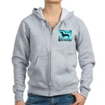 Grunge Doxie Warning Women's Zip Hoodie