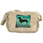 Grunge Doxie Warning Messenger Bag