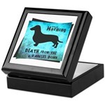 Grunge Doxie Warning Keepsake Box