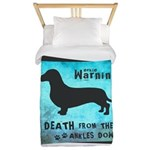 Grunge Doxie Warning Twin Duvet