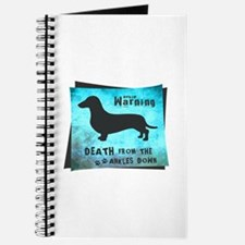 Grunge Doxie Warning Journal
