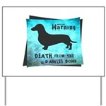 Grunge Doxie Warning Yard Sign