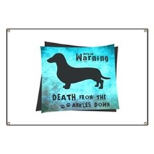 Grunge Doxie Warning Banner