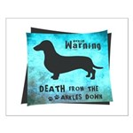 Grunge Doxie Warning Small Poster
