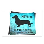 Grunge Doxie Warning Postcards (Package of 8)