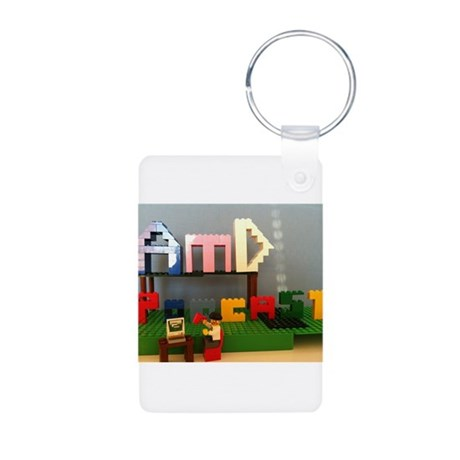 AMD Lego Logo Aluminum Photo Keychain
