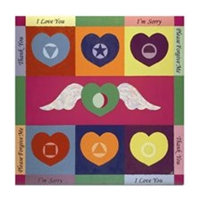 Heart painting Tile Coaster