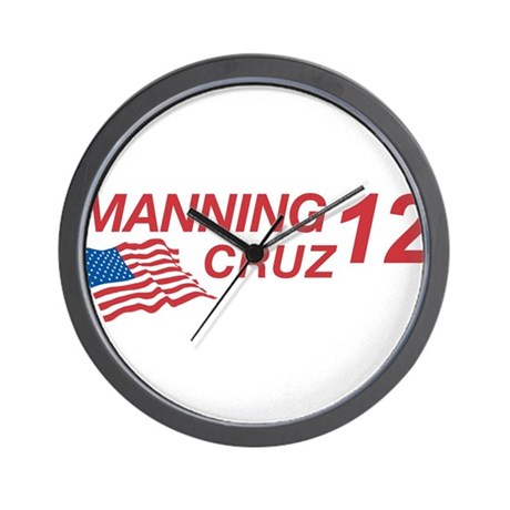 Manning/Cruz 2012 Wall Clock
