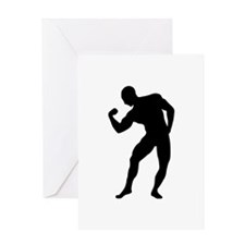 Bodybuilding gym Greeting Card