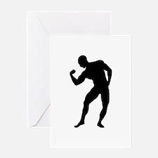 Bodybuilding gym Greeting Card