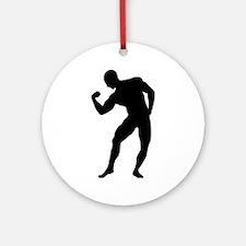 Bodybuilding gym Ornament (Round)