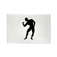 Bodybuilding gym Rectangle Magnet