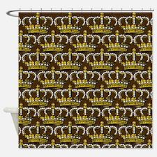 Royal Wedding Crown Shower Curtain