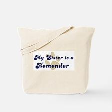 My Sister: Komondor Tote Bag