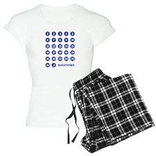 Marathon Numbers Blue Pajamas