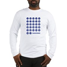 Marathon Numbers Blue Long Sleeve T-Shirt