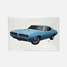 1968 GTO Alpine Blue Rectangle Magnet