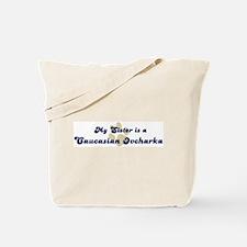 My Sister: Caucasian Ovcharka Tote Bag