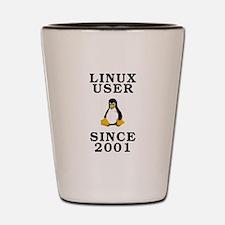 Linux user since 2001 - Shot Glass