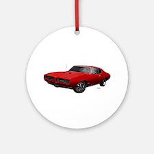 1968 GTO Solar Red Ornament (Round)