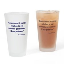 Ronald Reagan Government Quot Drinking Glass