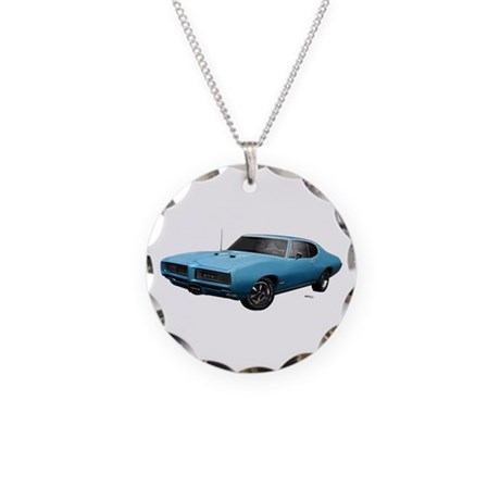 1968 GTO Meridian Turquoise Necklace Circle Charm