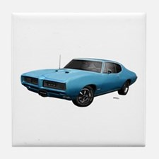 1968 GTO Meridian Turquoise Tile Coaster