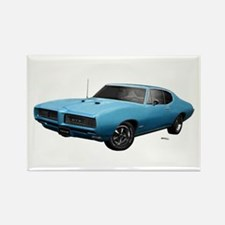 1968 GTO Meridian Turquoise Rectangle Magnet