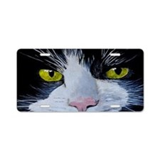 Tuxedo Cat Aluminum License Plate