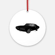 1968 GTO Starlight Black Ornament (Round)