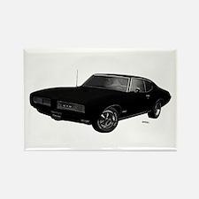 1968 GTO Starlight Black Rectangle Magnet