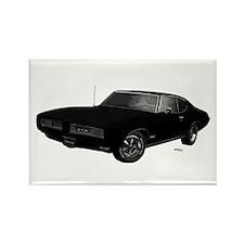 1968 GTO Starlight Black Rectangle Magnet (10 pack