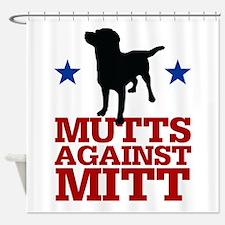 Mutts Against Mitt Shower Curtain