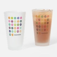 Marathon Numbers Pastel Drinking Glass
