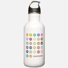 Marathon Numbers Pastel Water Bottle